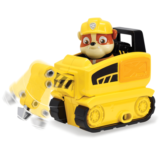 Paw Patrol Ultimate Rescue Mini Vehicle with Collectible Figure - Rubble