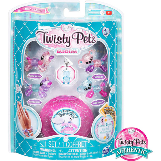 Twisty Petz Series 3 Babies - 4 Pack Unicorns and Koalas