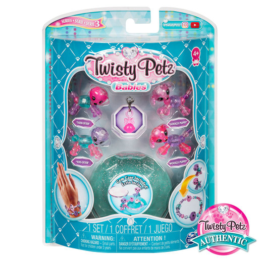 Twisty Petz Series 3 Babies - 4 Pack Otters and Puppies