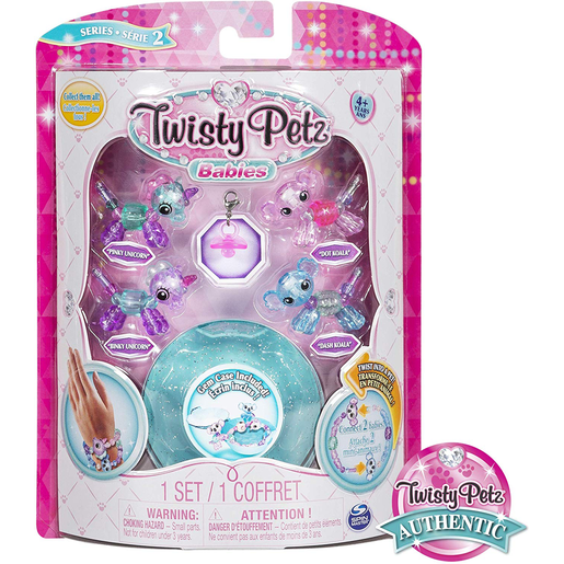 Twisty Petz Twin Baby Four Pack - Unicorn and Koala's (Blue)