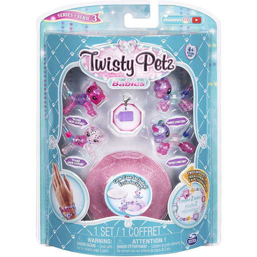 Twisty Petz Series 3 Babies - 4 Pack Snow Leopards and Unicorns