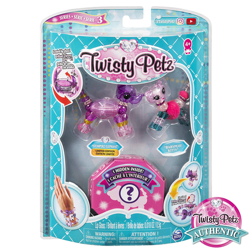 Twisty Petz Three Pack Series 3 - Stomperz Elephant and Babypuff Kitty