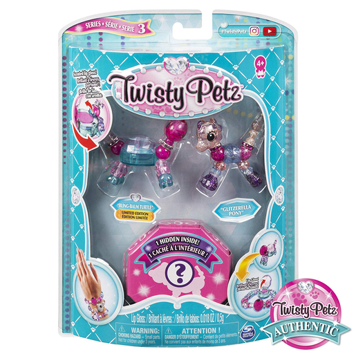 Twisty Petz Three Pack Series 3 - Bling-Balm Turtle and Glitzerella Pony