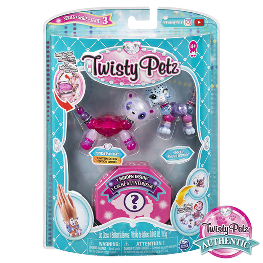 Twisty Petz Three Pack Series 3 - Pika Panda and Rockie Snow Leopard