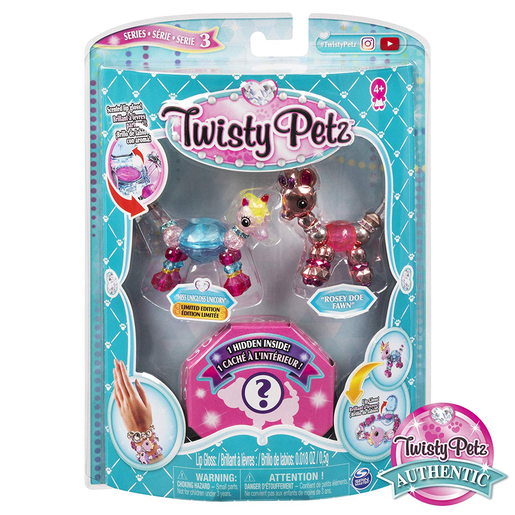 Twisty Petz Three Pack Series 3 - Miss Unigloss Unicorn and Rosey Doe Fawn