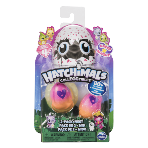 Hatchimals CollEGGtibles Season 4 - Two Pack + Nest