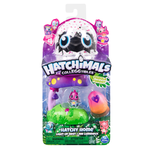Hatchimals CollEGGtibles Hatchy Home Light Up Nest - Fabula Forest