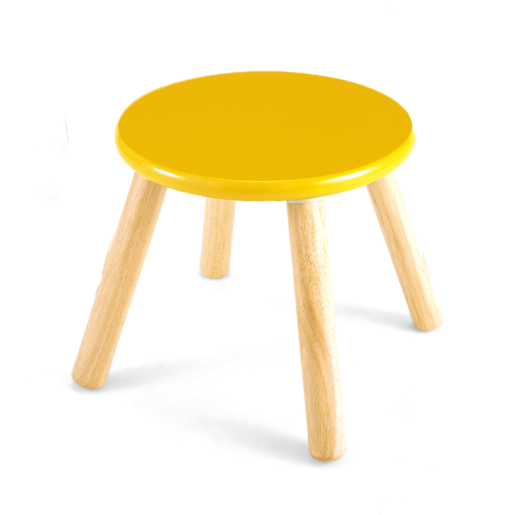 Wooden Stool 30cm - Yellow