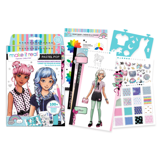 Make It Real Fashion Design Sketchbook - Pastel Pop!