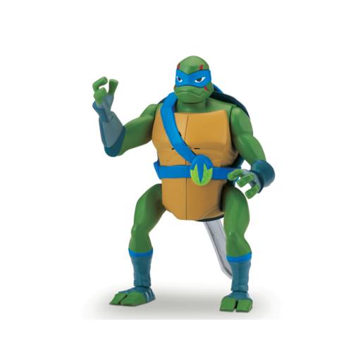 Rise of The Teenage Mutant Ninja Turtles Deluxe Ninja Attack Action Figure - Leonardo Backflip Attack