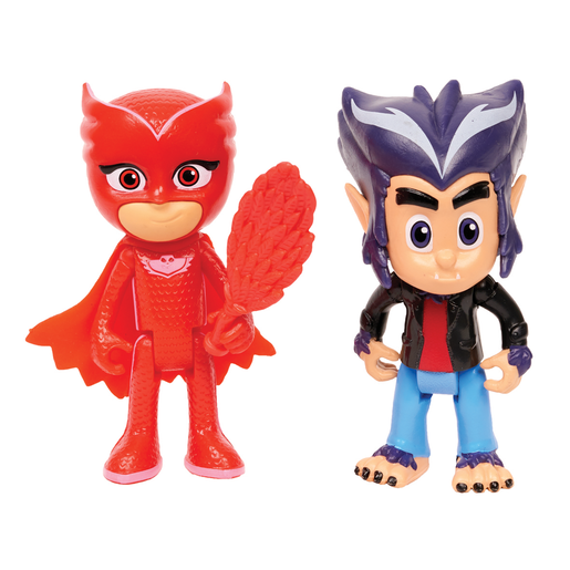 PJ Masks 2 Pack Figure Set -Owlette and Howler