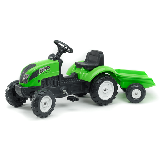 Falk Master Ride on Tractor and Trailer - Green (2018)