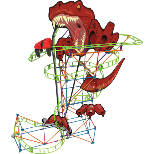 K'NEX T-Rex Fury Roller Coaster Building Set
