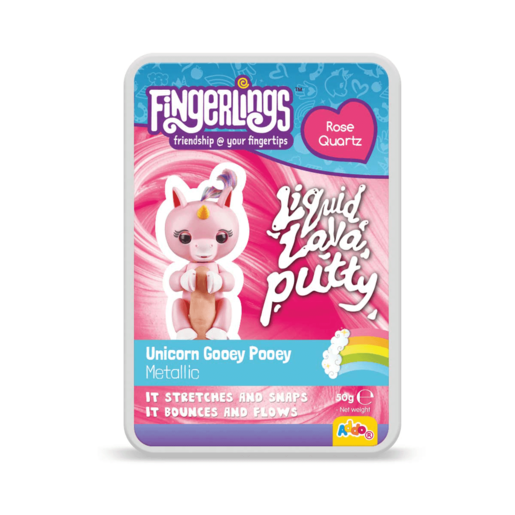 Fingerlings Liquid Lava Putty Unicorn Gooey Pooey - Rose Quartz