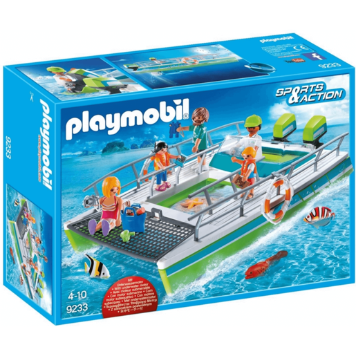Playmobil 9233 Sports & Action Glass Bottom Boat With Underwater Motor And Magnifying Glass