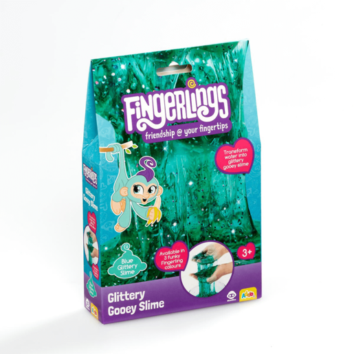 Fingerlings Glittery Gooey Slime - Blue