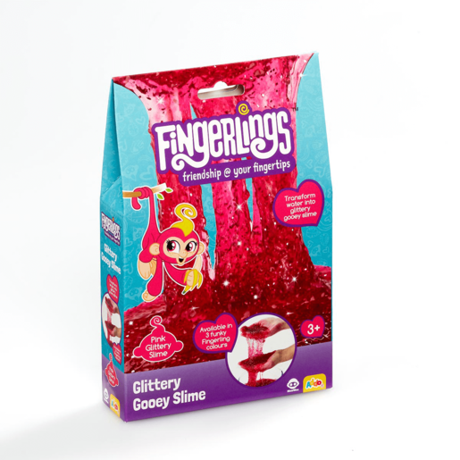 Fingerlings Glittery Gooey Slime - Pink