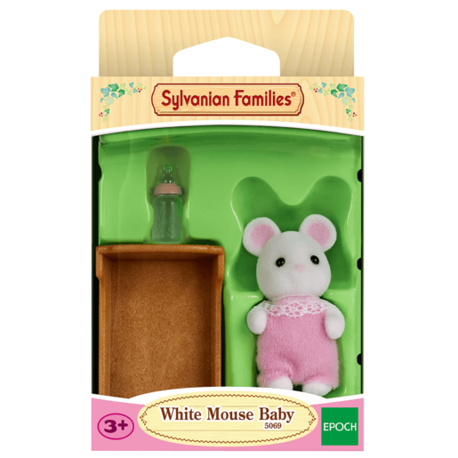 Sylvanian Families - White Mouse Baby