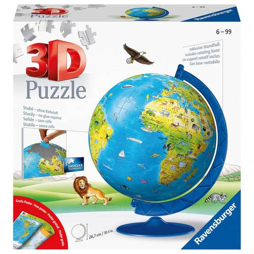 Ravensburger Childrens World Globe 3D Jigsaw Puzzle - 180pc
