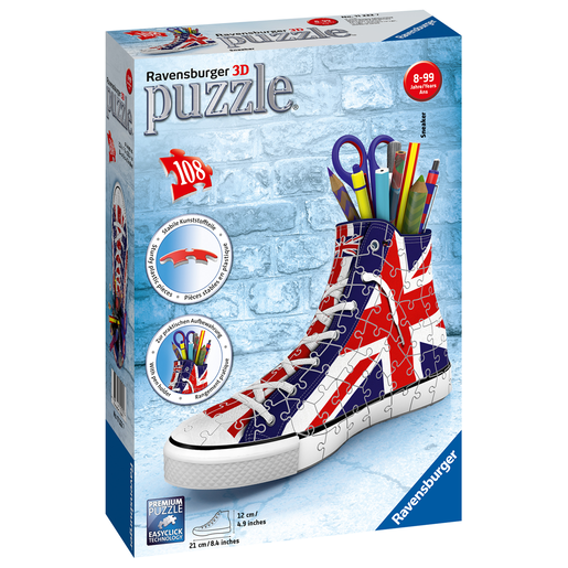 Ravensburger British Flag Sneakers 3D Jigsaw Puzzle - 108pc