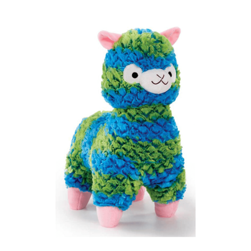 Snuggle Buddies 37cm Fleecy Llama - Blue and Green