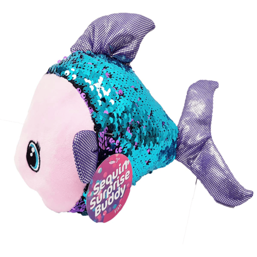 Sequin Surprise Soft Toy - Fish
