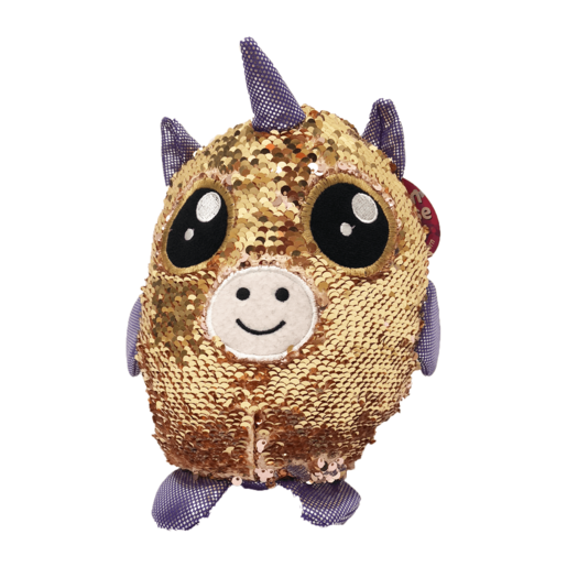Sequin Surprise Soft Toy - Gold Unicorn