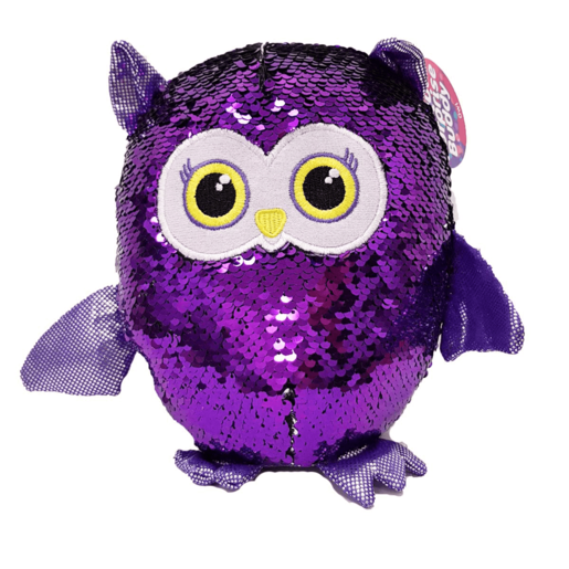 Sequin Surprise Soft Toy - Owl