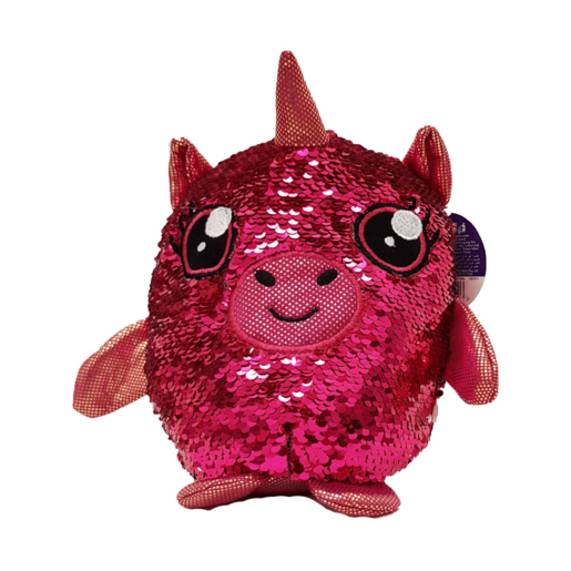 Sequin Surprise Soft Toy - Pink Unicorn