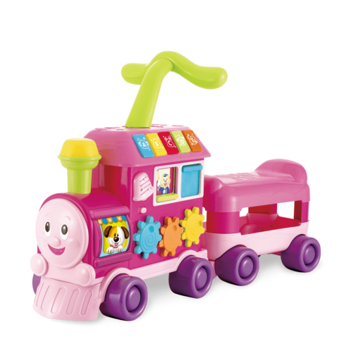 Walker Ride-on Learning Train- Pink