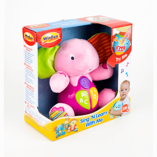 WinFun Sing and Learn With Me Timber the Elephant - Pink