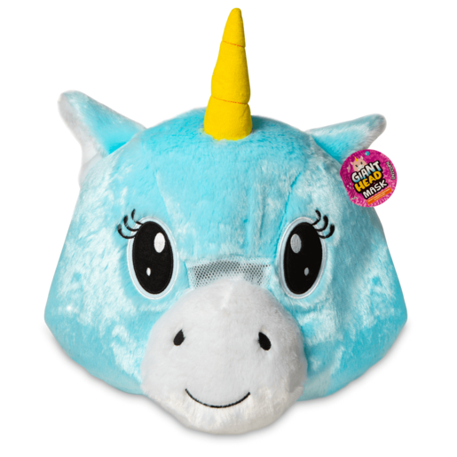 Plush Unicorn Head Mask