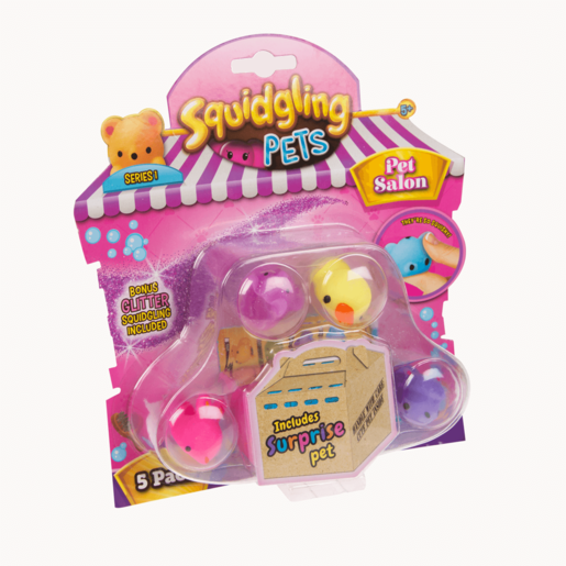Squidgling Pets 5-Pack (Styles Vary)