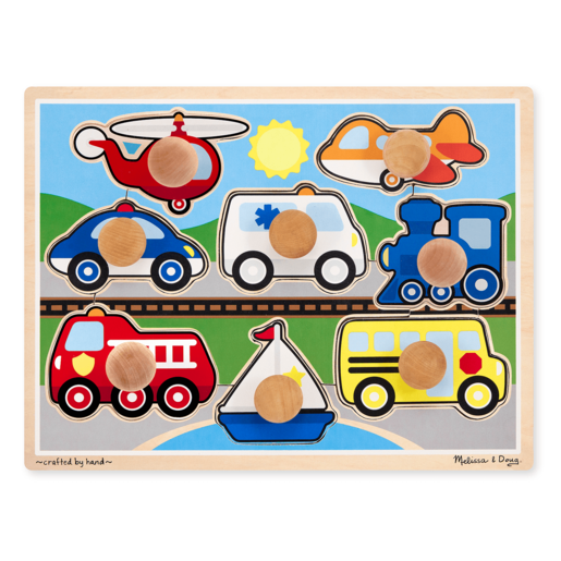 Melissa & Doug Vehicles Jumbo Peg Puzzle