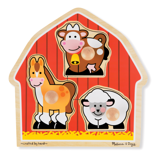 Melissa & Doug Barnyard Animals Large Peg Puzzle