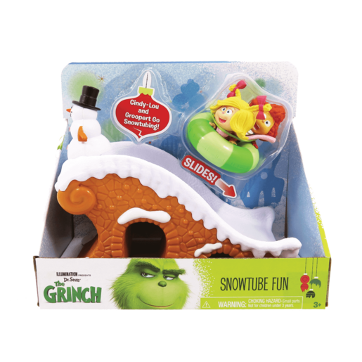 The Grinch - Grinch Whoville 2 Figure Playset - Snowtube Fun