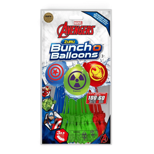 Official Zuru Bunch O Balloons Marvel Avengers - 100 Balloons