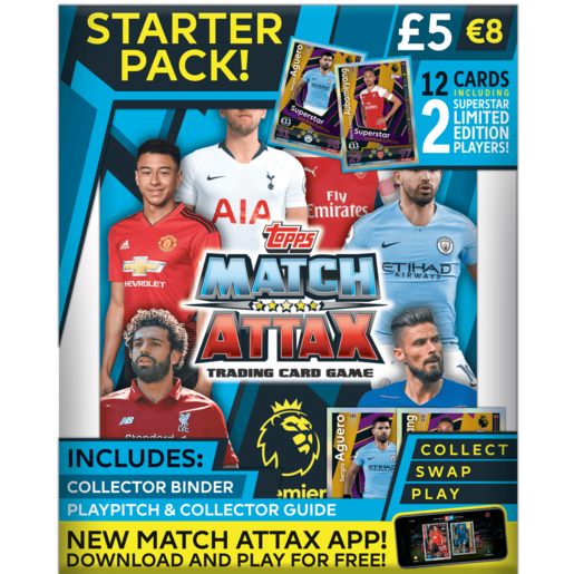 Match Attax Premier League Trading Card Game - Starter Pack