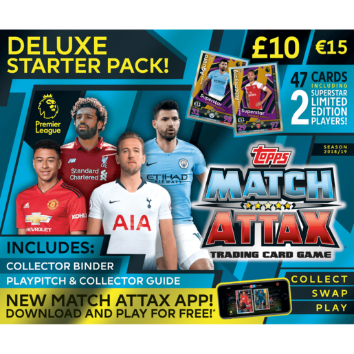 Match Attax Premier League Trading Card Game - Deluxe Starter Pack