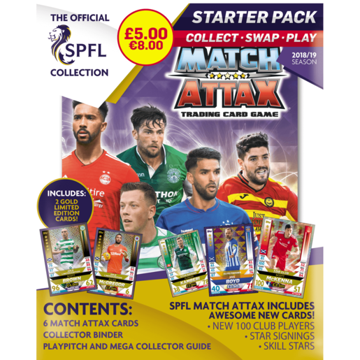 SPFL Match Attax Starter Pack