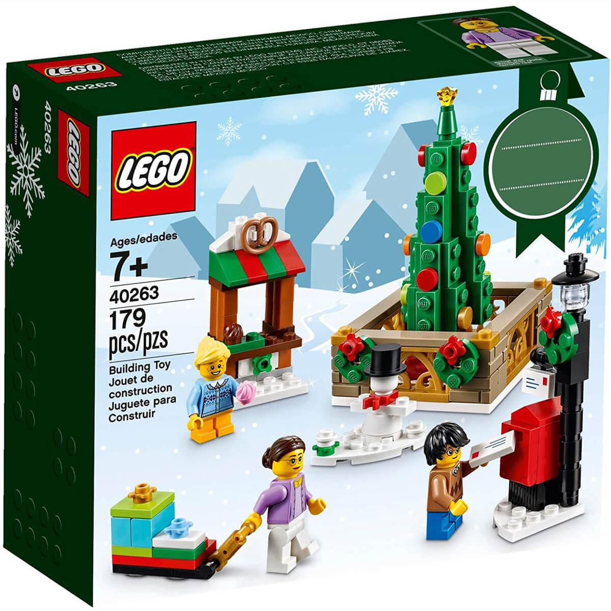 Lego Christmas.Lego Christmas Town Square 40263