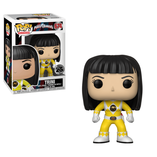 Funko Pop! Television: Power Rangers - Yellow Ranger (No Helmet)