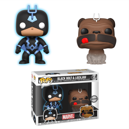 Funko Pop! Marvel Inhumans 2 Pack - Black Bolt and Lockjaw (Exclusive)