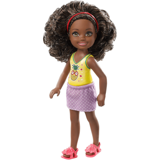 Barbie Club Chelsea 15cm Doll   Brunette With Pineapple Print Top
