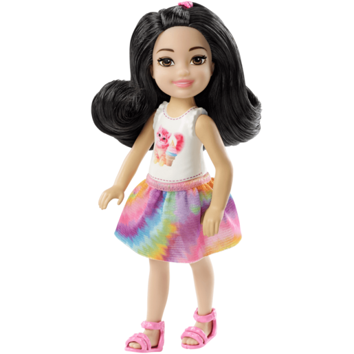 Barbie Club Chelsea 15cm Doll - Brunette with Cat Outfit