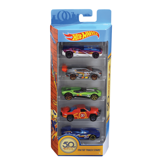 Hot Wheels 50th Anniversary Track Stars 5-pack