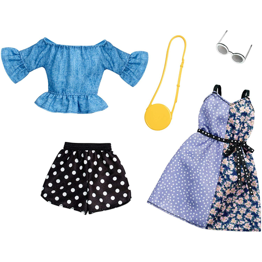Barbie Polka Dots Shorts and Dress Outfits