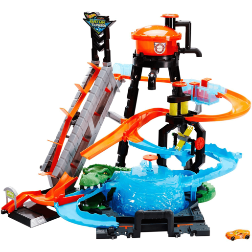 Hot Wheels City Ultimate Gator Car Wash Play Set