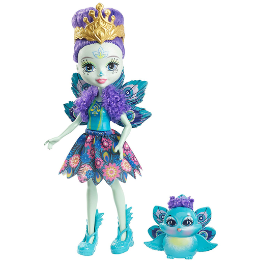 Enchantimals Doll - Patter Peacock and Flap