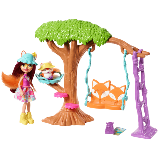 Enchantimals Playground Adventures Playset - Felicity Fox Doll and Flick Figure